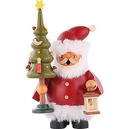 Räuchermännchen Weihnachtsmann mit Baum  -  14cm
