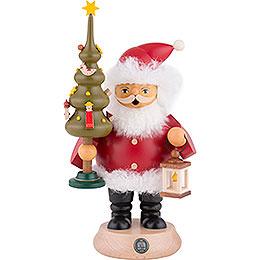 Räuchermännchen Weihnachtsmann mit Baum  -  20cm