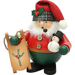 Räuchermännchen Weihnachtsmann mit Schlitten  -  15,5cm