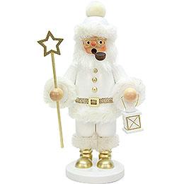 Räuchermännchen Weihnachtsmann weiß  -  26cm