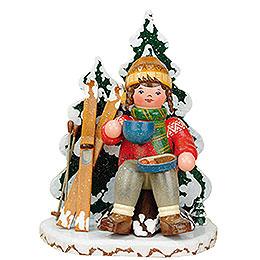 Räuchermännchen Winterkinder Schneeschuhfahrerin  -  20cm