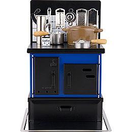 Räucherofen Küchenherd blau - schwarz  -  21cm
