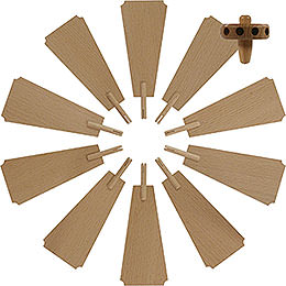 Replacement Wheel with Wings for Christmas Pyramid  -  Diameter = 35cm / 14 inch