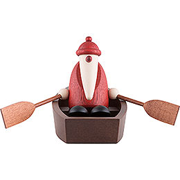 Santa Claus in a Rowboat  -  9cm / 3.5 inch