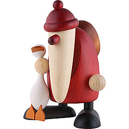 Santa Claus with Auguste, the Goose  -  19cm / 7.5 inch