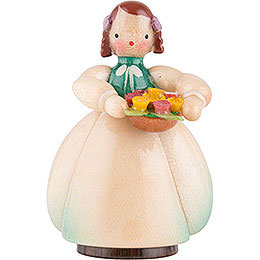 Schaarschmidt Flower Child with Flower Bowl  -  4cm / 1.6 inch
