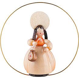 Schaarschmidt Hut - Dame mit Tasche im Ring  -  6cm