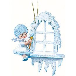 Schneeflöckchen am Fenster  -  7x7x4cm
