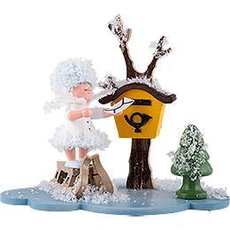 Schneeflöckchen mit Briefkasten  -  10cm