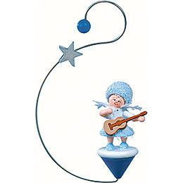 Schneeflöckchen mit Gitarre -  12x7x3cm