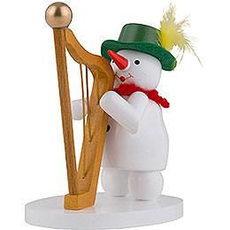 Schneefrau mit Harfe  -  9cm