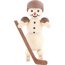 Schneemann Eishockeyspieler stehend Helm  -  10cm