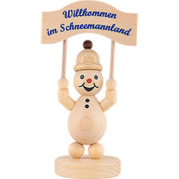 """Schneemann Junior """"mit Schild""""  -  12,5cm"""