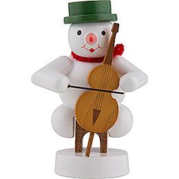 Schneemann Musikant mit Cello  -  8cm