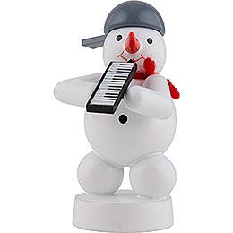 Schneemann Musikant mit Melodica  -  8cm