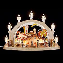 Schwibbogen Christi Geburt  -  58x39cm