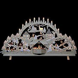 Schwibbogen Erzgebirgsbogen mit Figuren, Übergröße  -  100x56x16cm