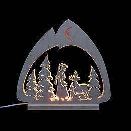 Schwibbogen LED - Leuchter Jäger  -  30x28,5x4,5cm