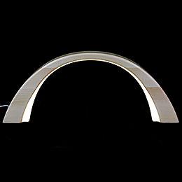 Schwibbogen Linde natur, mit elektrischer Innenbeleuchtung  -  55x23,5cm