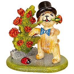 Set of Three -  Little Rose Gentleman  -  4cm / 1,5 inch