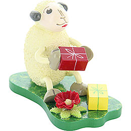 "Sheep ""Jubilari"", Gets Presents  -  5,5cm / 2.2 inch"