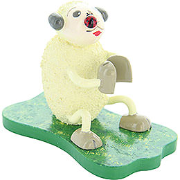"Sheep ""Klatschi"", with Bug  -  5cm / 2 inch"