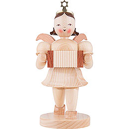 Shortskirt Angel Natural, with Harmonica  -  20cm / 7.8 inch