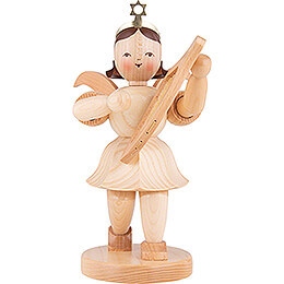 Shortskirt Angel Natural, with Lyre  -  20cm / 7.8 inch