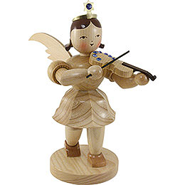 Shortskirt Angel Natural with Violin and SWAROVKSI ELEMENTS  -  20cm / 7.8 inch