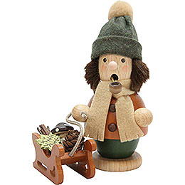 Smoker  -  Boy with Sleigh  -  14cm / 5.5 inch