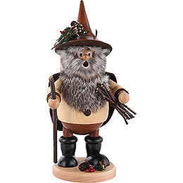 Smoker  -  Forest Gnome Wood Collector, Natural  -  25cm / 10 inch