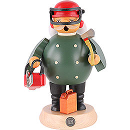 Smoker  -  Forest Worker with Saw  -  18cm / 7 inch