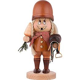Smoker  -  Gnome Female Horse Rider  -  29cm / 11 inch