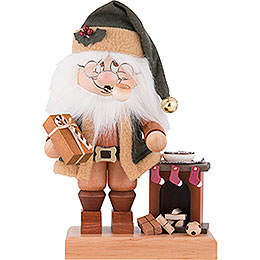 Smoker  -  Gnome Santa with Fire Place  -  28,5cm / 11.2 inch