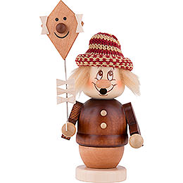 Smoker  -  Mini - Gnome Girl with Kite  -  12,5cm / 5 inch