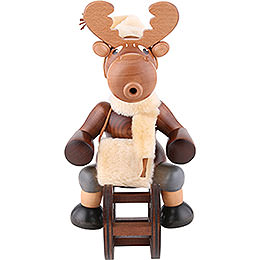 Smoker  -  Moose with Sleigh  -  29cm / 11 inch