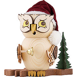 Smoker  -  Owl Santa Claus  -  15cm / 5.9 inch