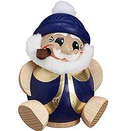Smoker  -  Santa Claus Blue - Gold  -  Ball Figure  -  11cm / 4.3 inch