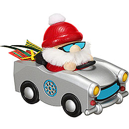 Smoker  -  Santa in Trabi  -  Ball Figure  -  12cm / 4.7 inch
