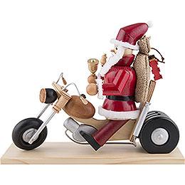 Smoker  -  Santa on Motorbike  -  21cm / 8 inch