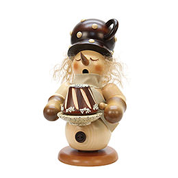Smoker  -  Snowman with Cake  -  24cm / 9 inch