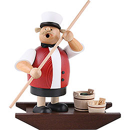 Smoker  -  Spree Woods Man with Boat  -  21cm / 8.3 inch