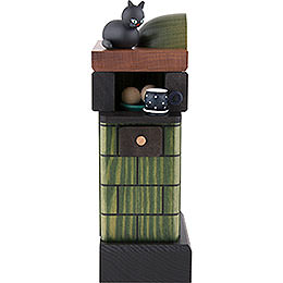 Smoker  -  Tiled Stove Green  -  20cm/7.8 inch