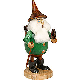 Smoker  -  Timber - Gnome Coneman Green  -  Hat Brown  -  15cm / 6 inch