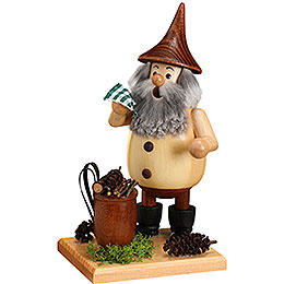 Smoker  -  Timber - Gnome Wood Gatherer on a Board  -  15cm / 6 inch