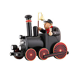 Smoker  -  Train Driver with Locomotive  -  29,5x21,5x13cm/11.6x8.5x5.1 inch
