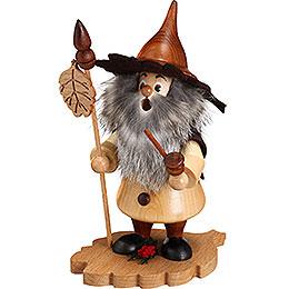 Smoker  -  Tree Gnome, Alder Leaf  -  18cm / 7 inch