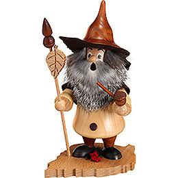 Smoker  -  Tree Gnome, Birch Leaf  -  18cm / 7 inch