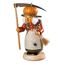 Smoker  -  Witch with Pumpkin  -  25cm / 10 inch