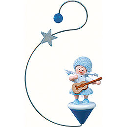 Snowflake with Guitar -  12x7x3cm / 4.7x2.8x1 inch